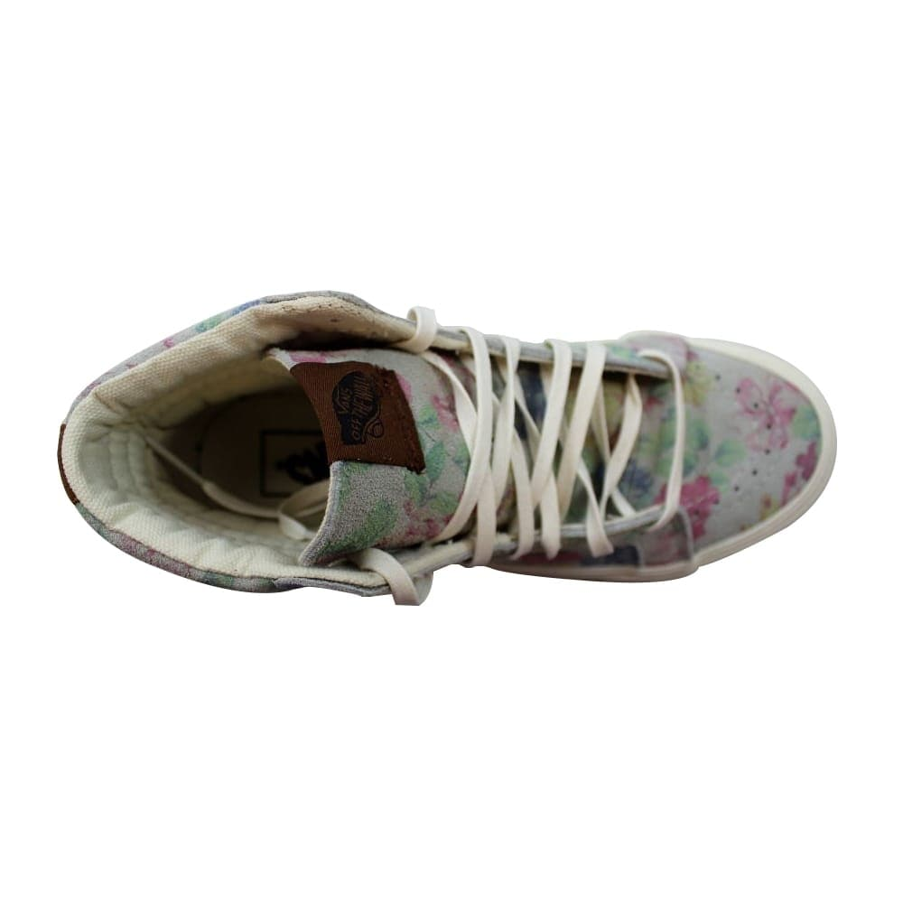 5e9b67a660 Shop Vans Sk8-Hi Slim Suede Floral Marshmallow Men s VN-0XH7EH5 Size 5  Medium - Free Shipping On Orders Over  45 - Overstock - 27339846