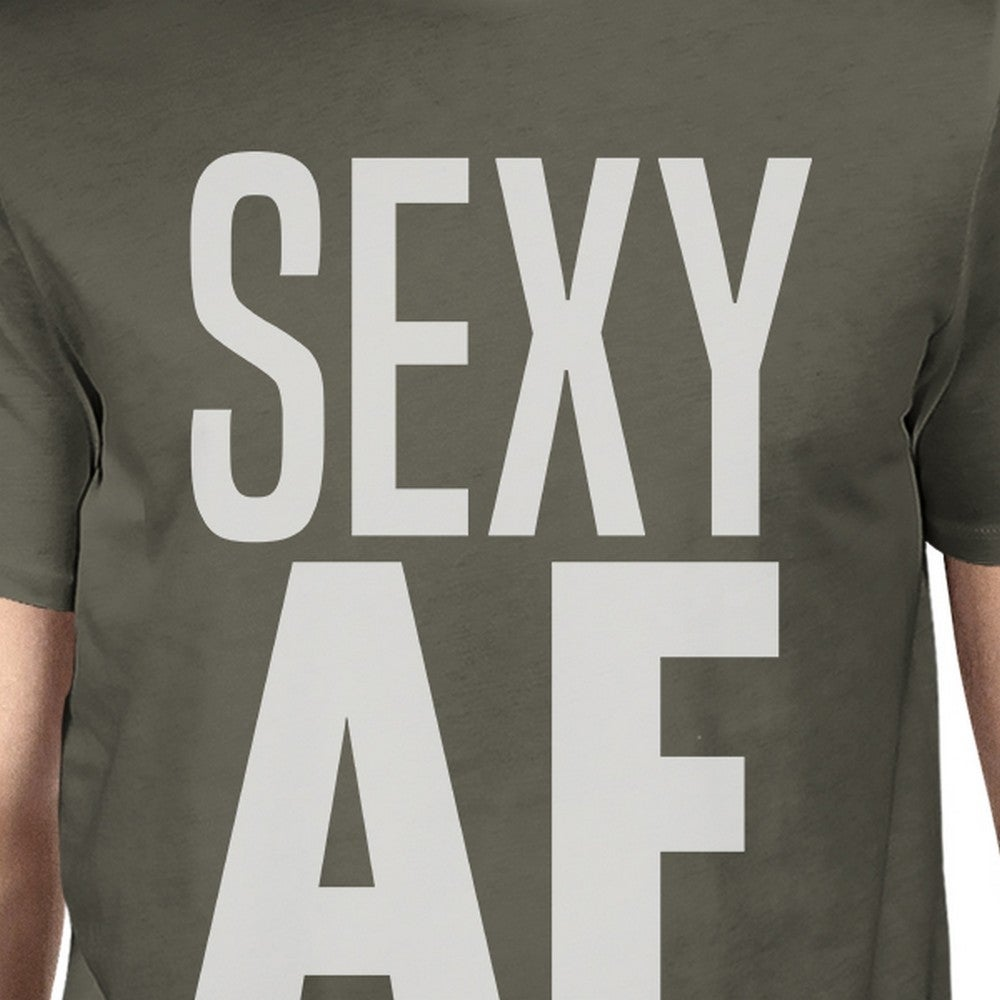 f023a6641 Shop Sexy AF Mens Cool Grey Funny Graphic Tee Cute Gym T-Shirt Cotton - On  Sale - Ships To Canada - Overstock.ca - 21473317