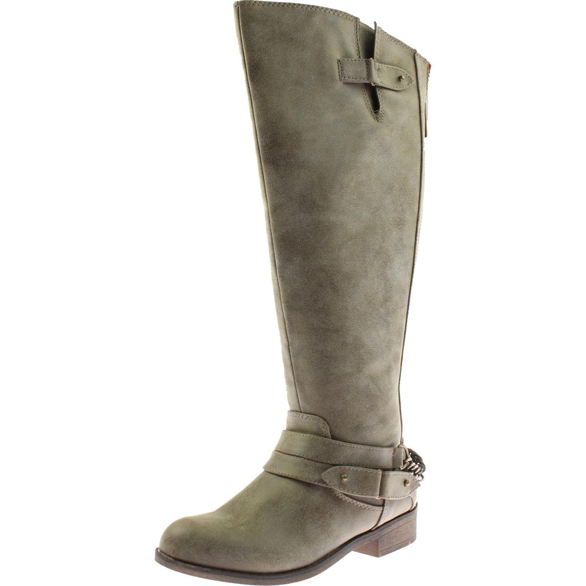 f0205397c87 Shop Madden Girl Womens Canyon Riding Boots Faux Leather Wide Calf - Free  Shipping On Orders Over  45 - Overstock - 13936639