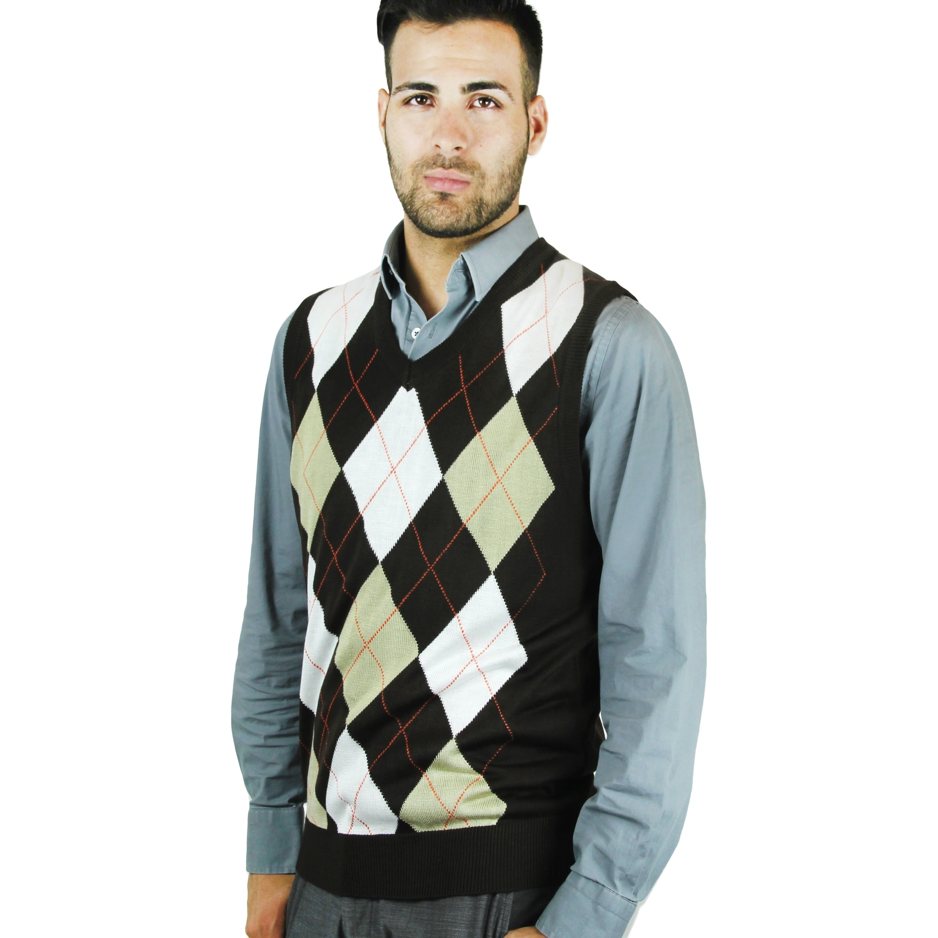 Shop Mens Argyle Sweater Vest Sv 255 Free Shipping On Orders