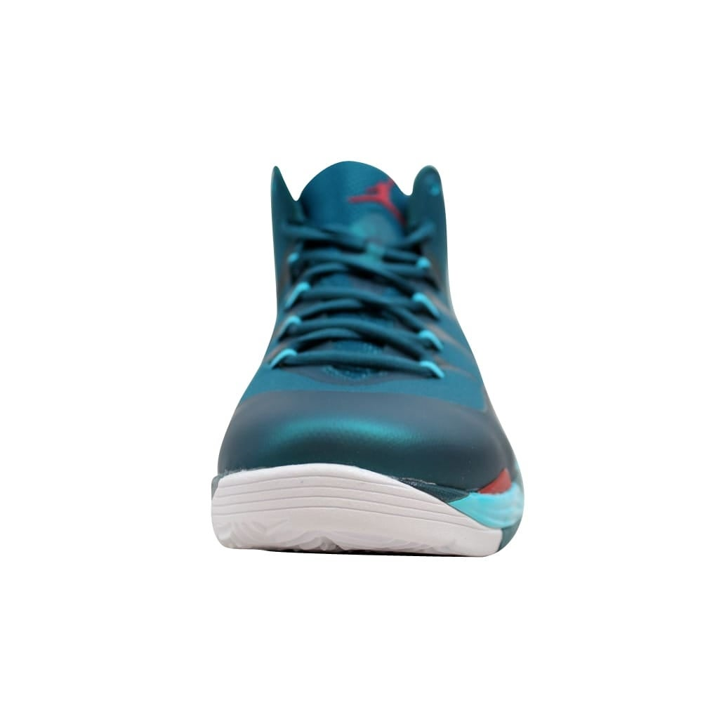 287dec2f5879 Shop Nike Men s Air Jordan Super Fly 2 Dark Sea Gym Red-Gamma Blue-White  599945-308 Size 12.5 - Free Shipping Today - Overstock - 20129837