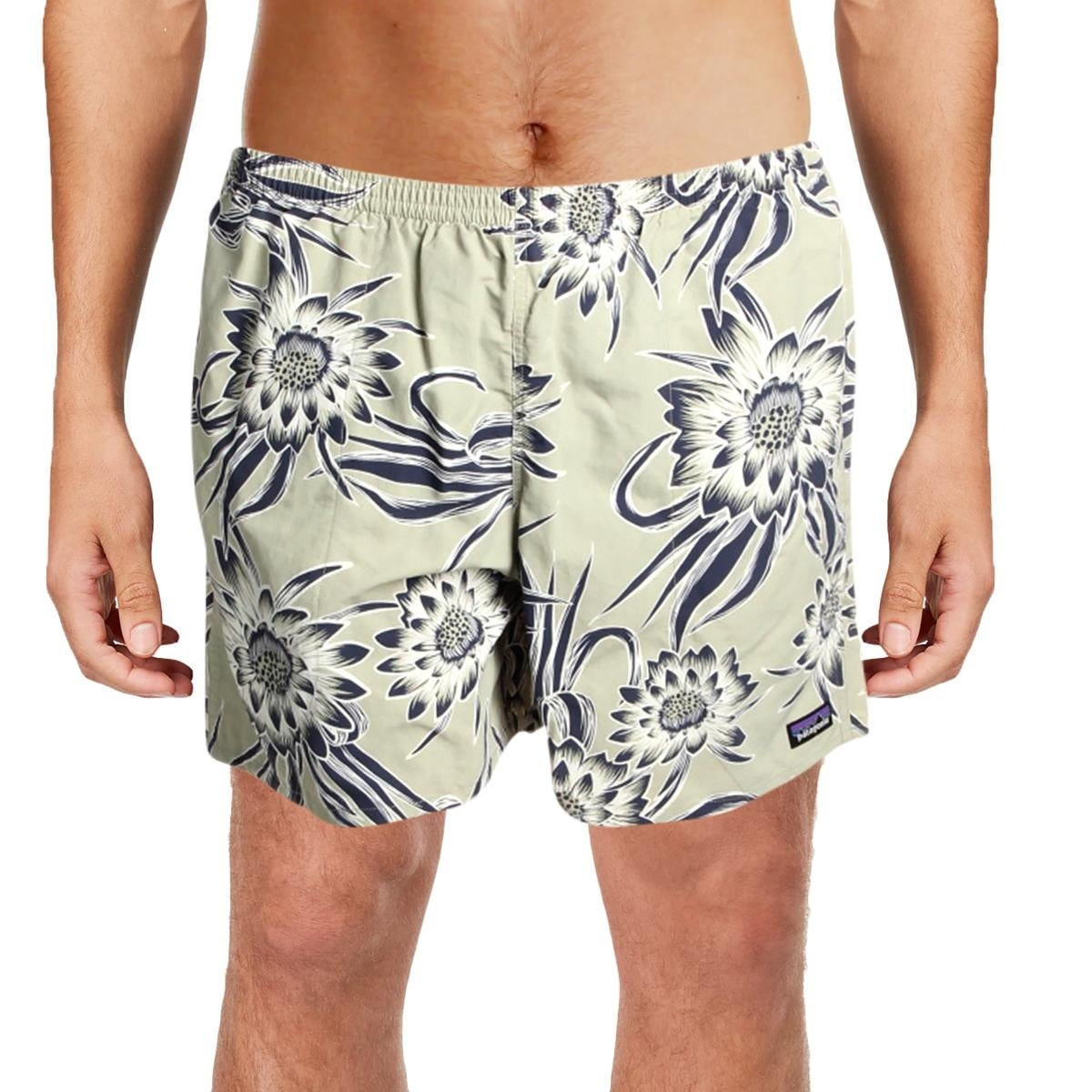 9bdca2d778 Shop Patagonia Mens Baggies Floral Print Woven Swim Trunks - Free Shipping  On Orders Over $45 - Overstock - 27078984