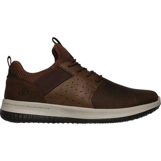 f4ac8679c9c4 Shop Skechers Men s Delson Axton Sneaker Dark Brown - On Sale - Free  Shipping Today - Overstock - 24322742