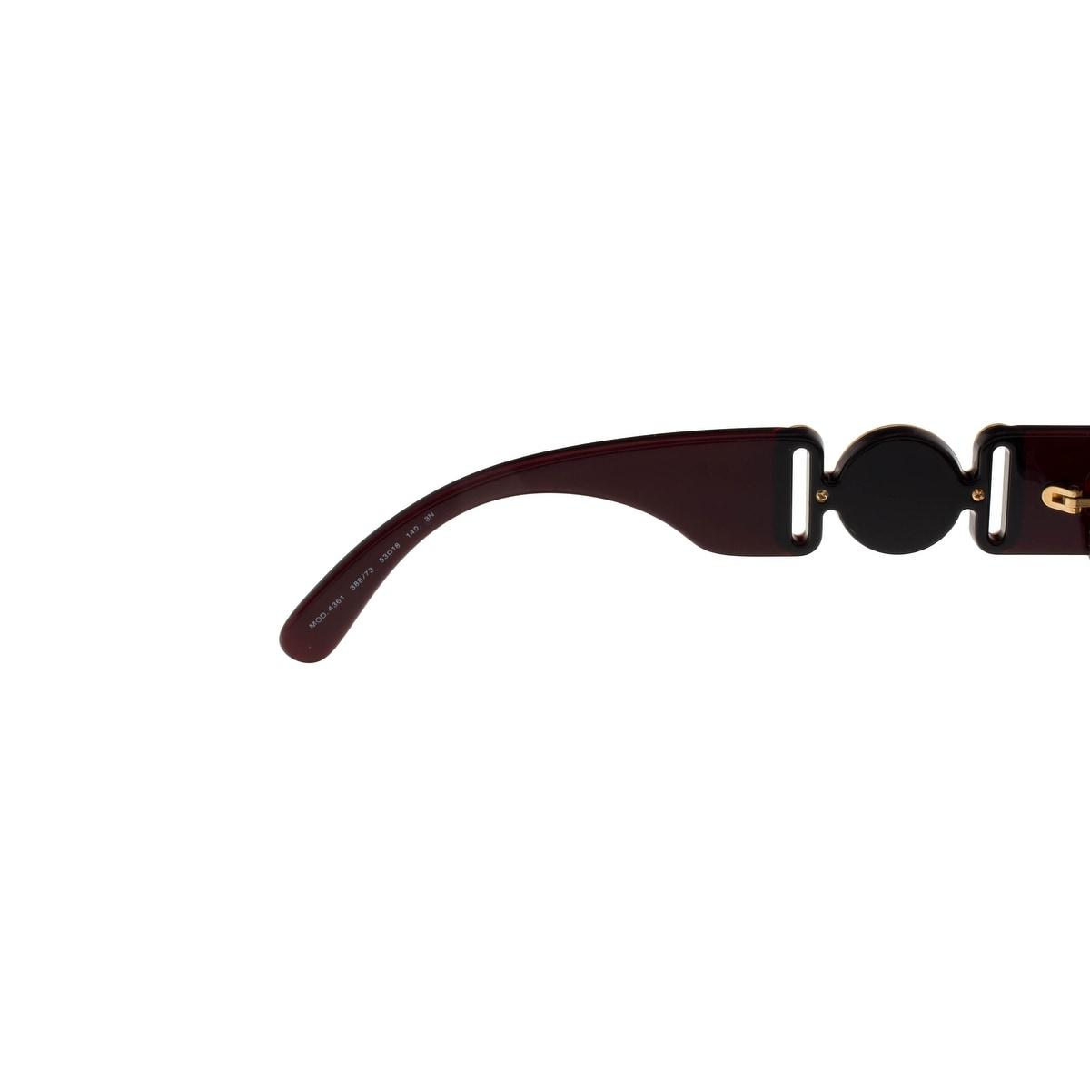 a38d7c997a4e Shop Versace VE4361 388 73 TRANSPARENT RED Irregular Sunglasses - 53-18-140  - Free Shipping Today - Overstock - 26951093