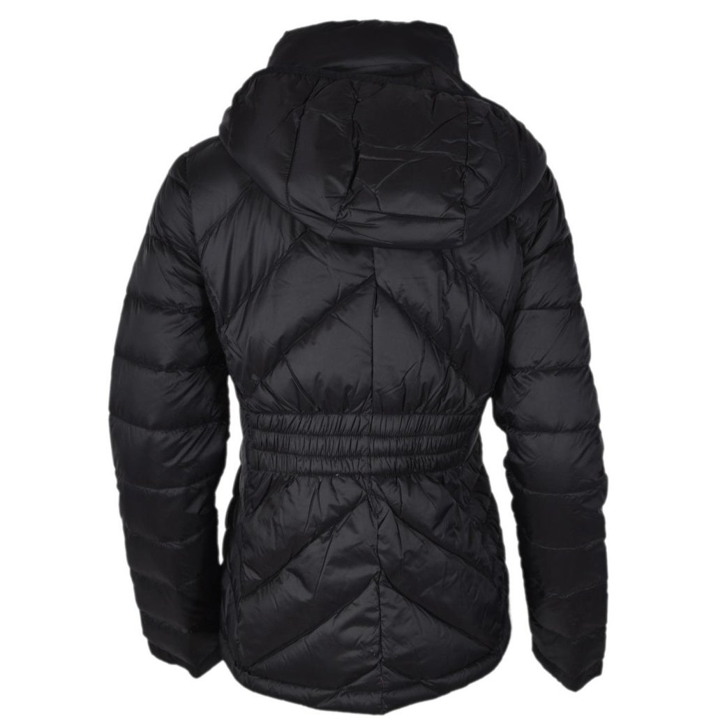 9348f710e0f7 Michael Kors Women s Black Quilted Nylon Packable Hooded Down Puffer Jacket