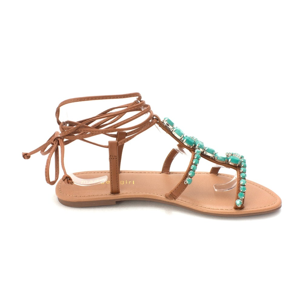 f41f23756c1c Shop Madden Girl Womens Kalipsoo Open Toe Casual T-Strap Sandals - 5.5 -  Free Shipping On Orders Over  45 - Overstock - 22338428