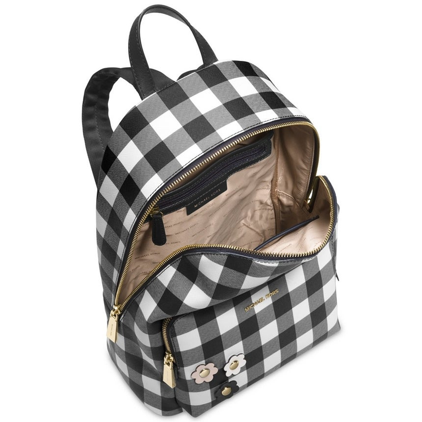 e70eef26ca02 Shop Michael Kors Women s Wythe Large Backpack Black Check - Free Shipping  Today - Overstock - 22876432