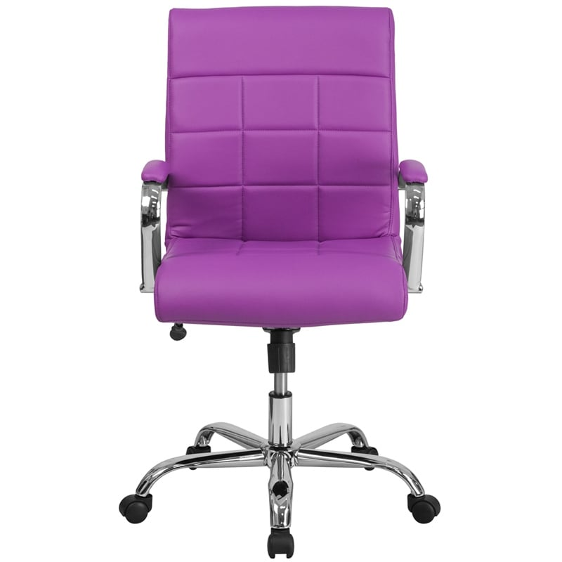 Shop Aberdeen Mid Back Purple Vinyl Executive Swivel Chair W/Chrome Base U0026  Arms   Free Shipping Today   Overstock.com   16627679