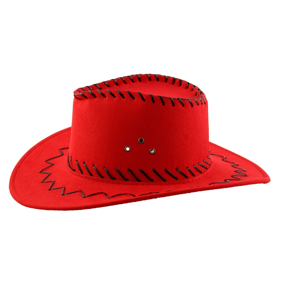 Shop Adult Adjustable Neck Strap Wide Brim Western Style Sunhat Cowboy Hat  Red - Free Shipping On Orders Over  45 - Overstock.com - 24459315 26a6b211d5a4