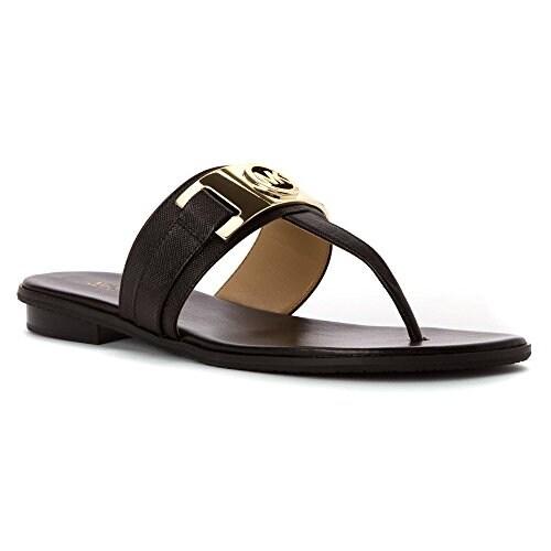 b51be9d8b42 Shop MICHAEL Michael Kors Womens Warren Thong Split Toe Casual Slide Sandals  - Free Shipping Today - Overstock - 14523531