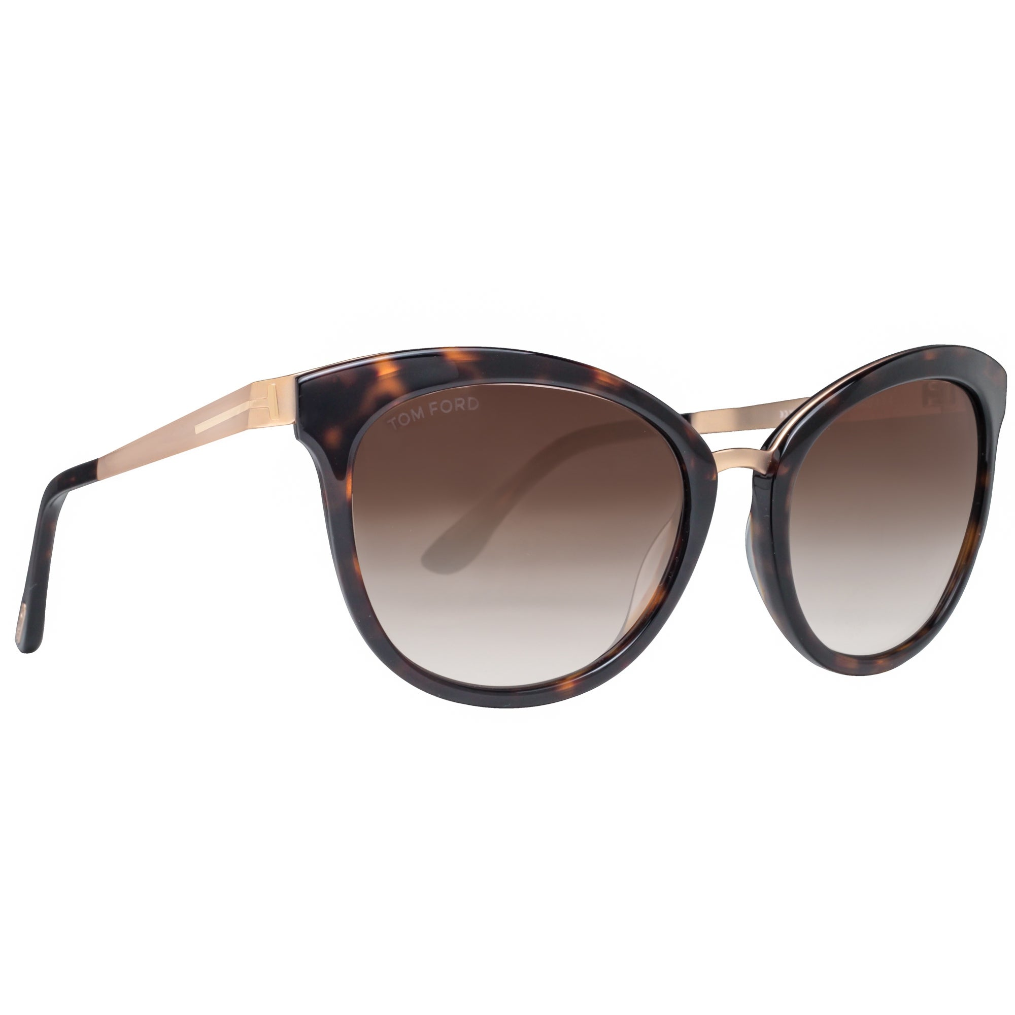 6ad6e1559ea Shop Tom Ford Emma TF 461 52G Gold Havana Brown Gradient Women s Cat Eye  Sunglasses - havana brown gold - 56mm-19mm-130mm - Ships To Canada -  Overstock.ca - ...
