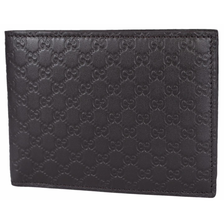 63660e1e4f4 Shop Gucci Men s 278596 Brown Micro GG Guccissima Large Bifold Wallet -  5