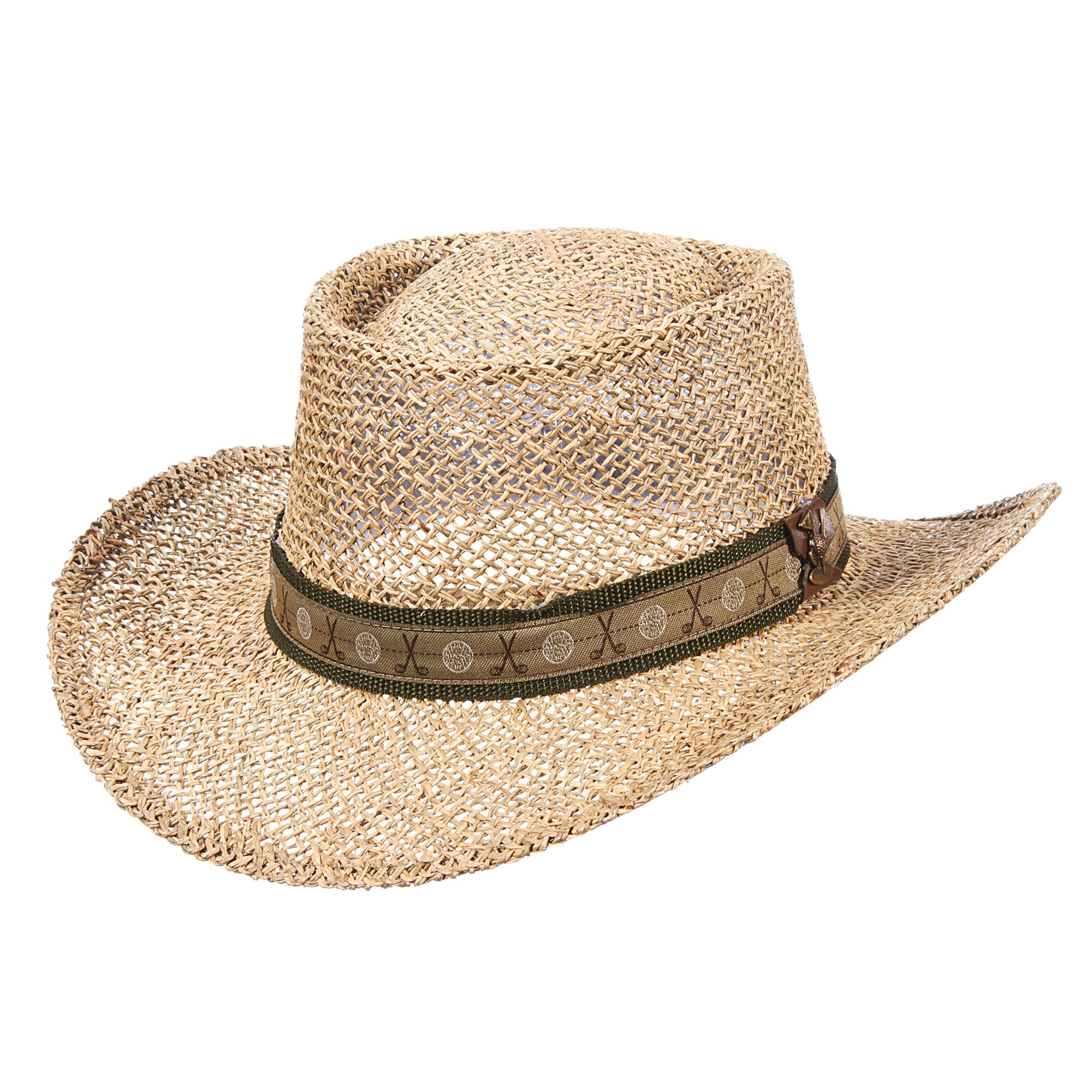 Shop DPC Outdoor Design Men s Twisted Seagrass Gambler Hat with Golf  Hatband - Free Shipping On Orders Over  45 - Overstock - 20979075 3120238aa15