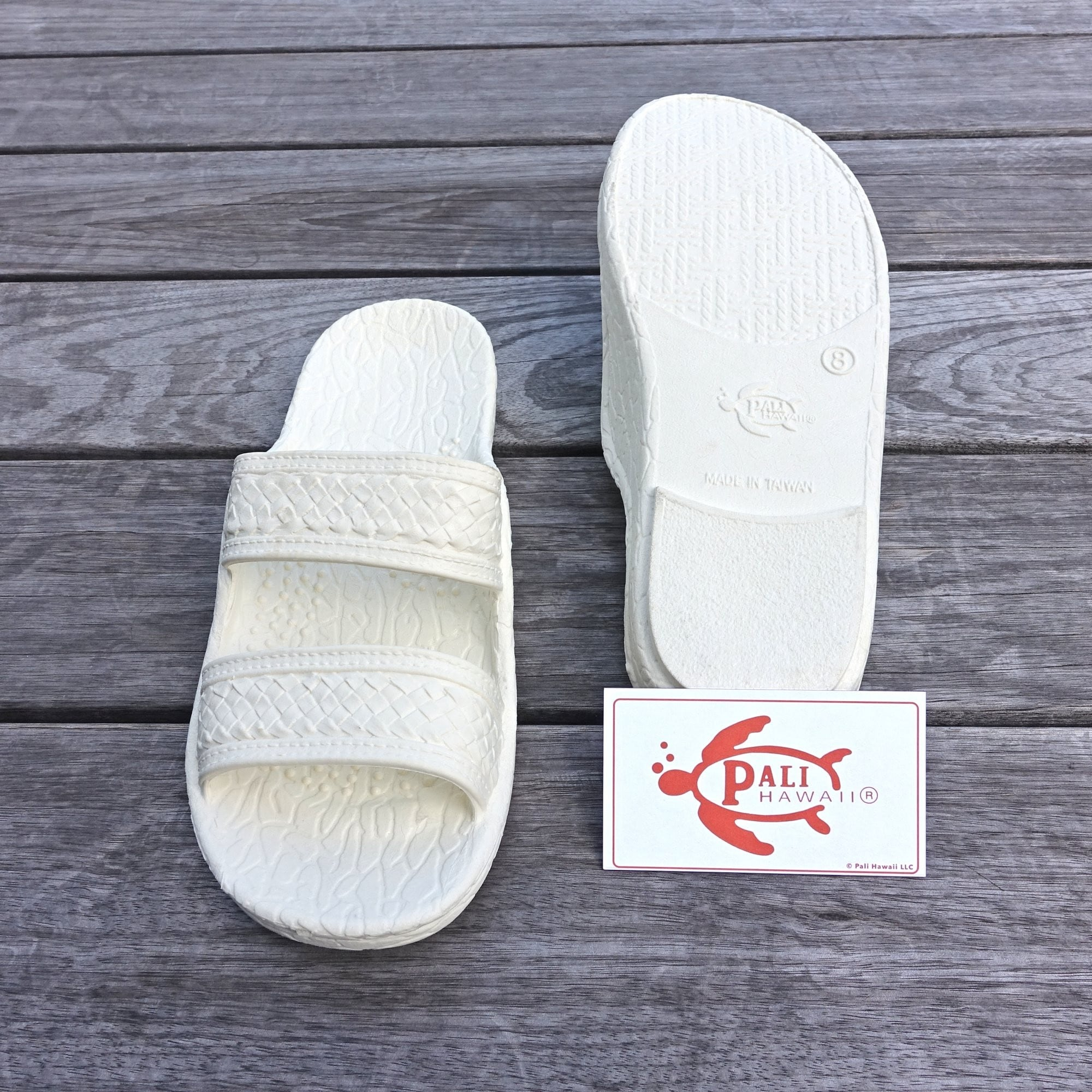 557b134a46bc76 Shop Pali Hawaii Jandals WHITE with Certificate of Authenticity - Free  Shipping On Orders Over  45 - Overstock - 16025336