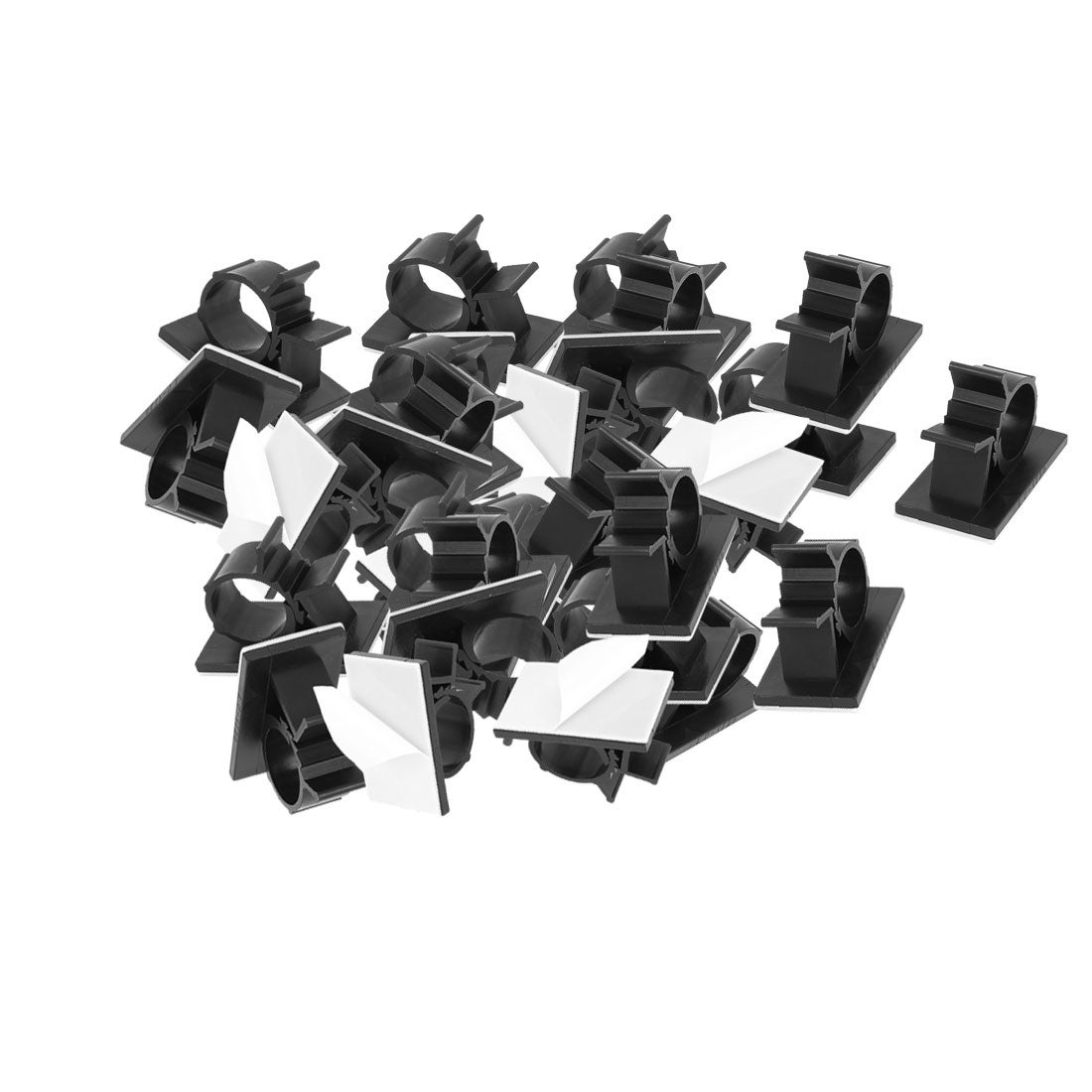 941b8dd50aa5 Shop 30 Pcs 25mmx42mm White Adhesive Backed Nylon Wire Adjustable Cable  Clips Clamps - Free Shipping On Orders Over $45 - Overstock - 18400847