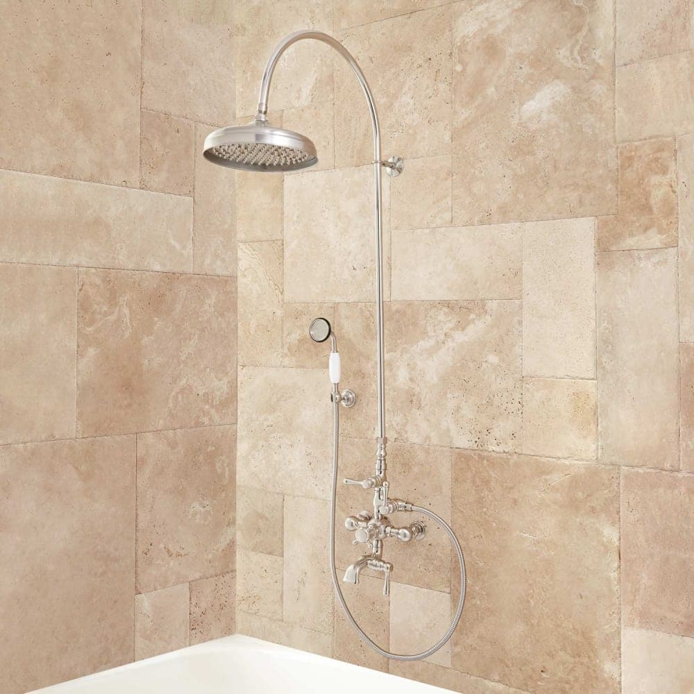 Shop Signature Hardware 905351 Oxford Exposed Thermostatic Tub and ...