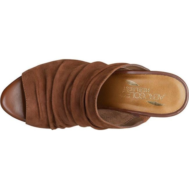 6efbc7320e2 Shop Aerosoles Women s Open Road Slide Sandal Mid Brown Suede - Free  Shipping Today - Overstock - 16419163