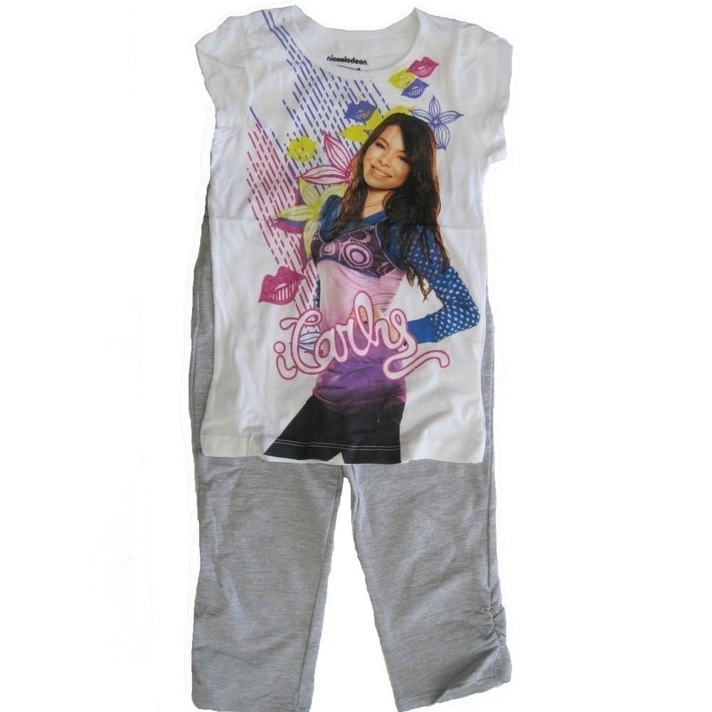 Shop Nickelodeon Little Girls Grey White Icarly Graphic Print Tee 2 ...