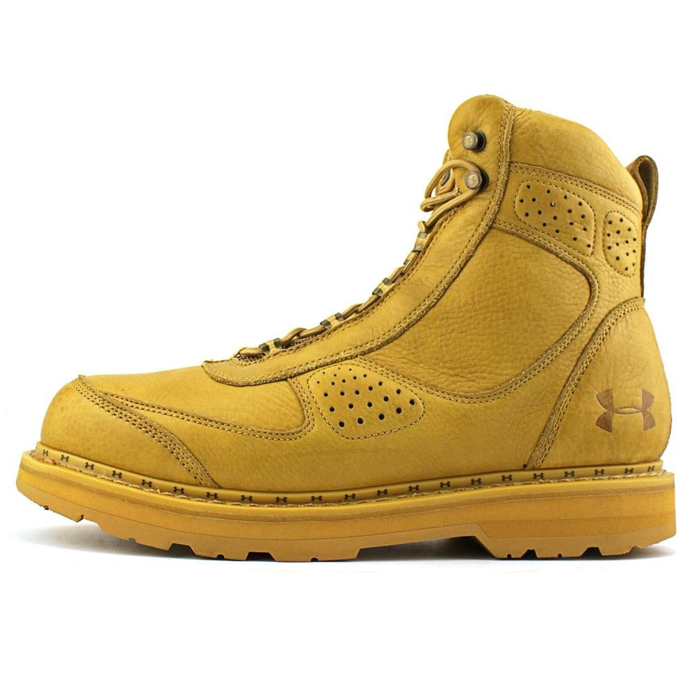 9c9d97cdde5 Under Armour Lindig Leather Men Round Toe Synthetic Tan Combat Boot