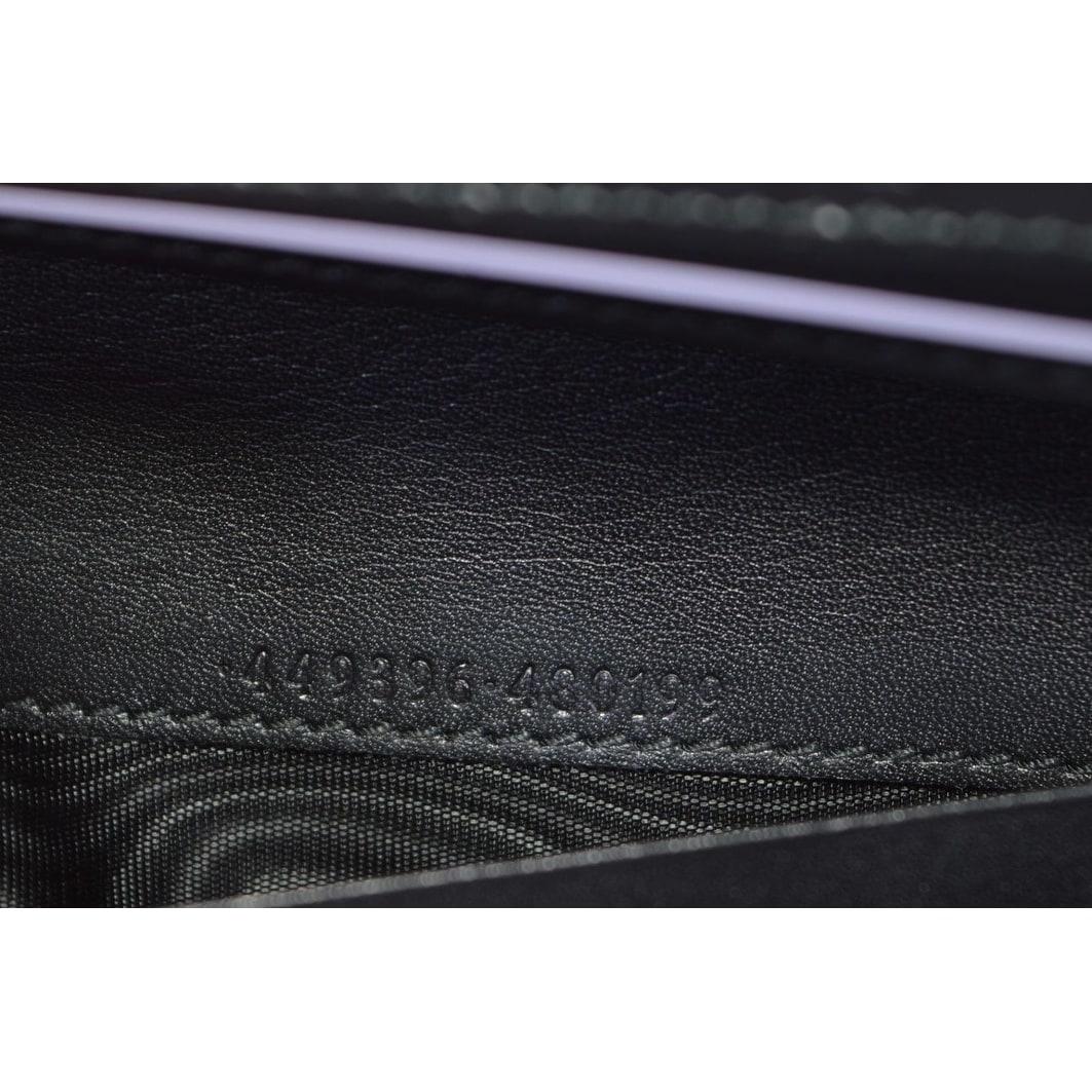 b6aa2c869737 Shop Gucci Women's 449396 Black Leather Micro GG Continental Bifold Wallet  - 7.5