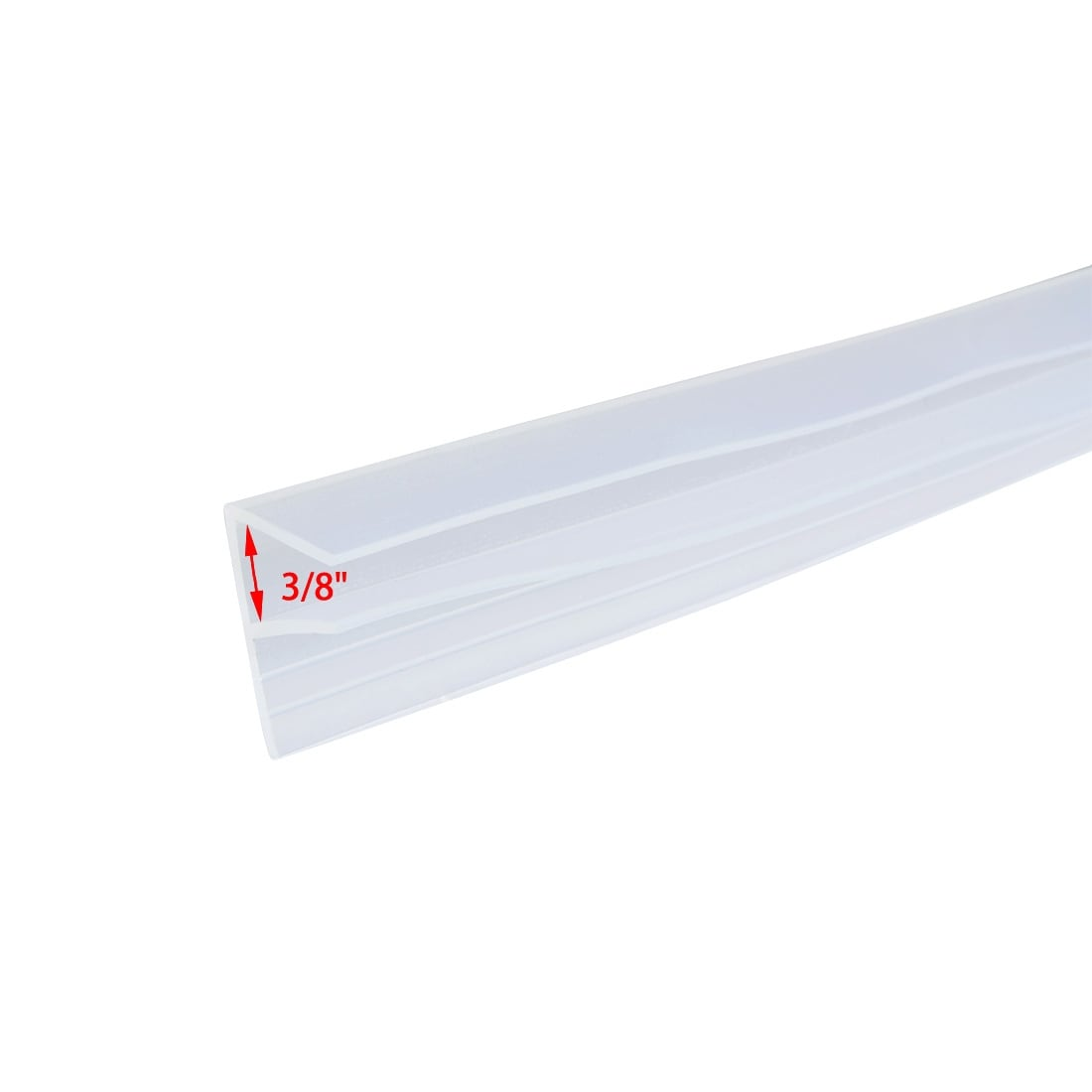 Shop 36 Inch F Shaped Frameless Window Shower Door Seal Clear For 3