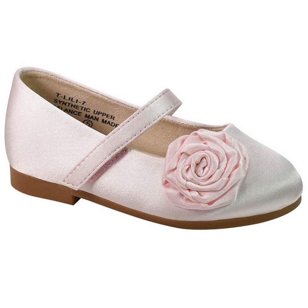 Shop De Blossom Little Girls Pink Flower Adorned Mary Jane Casual