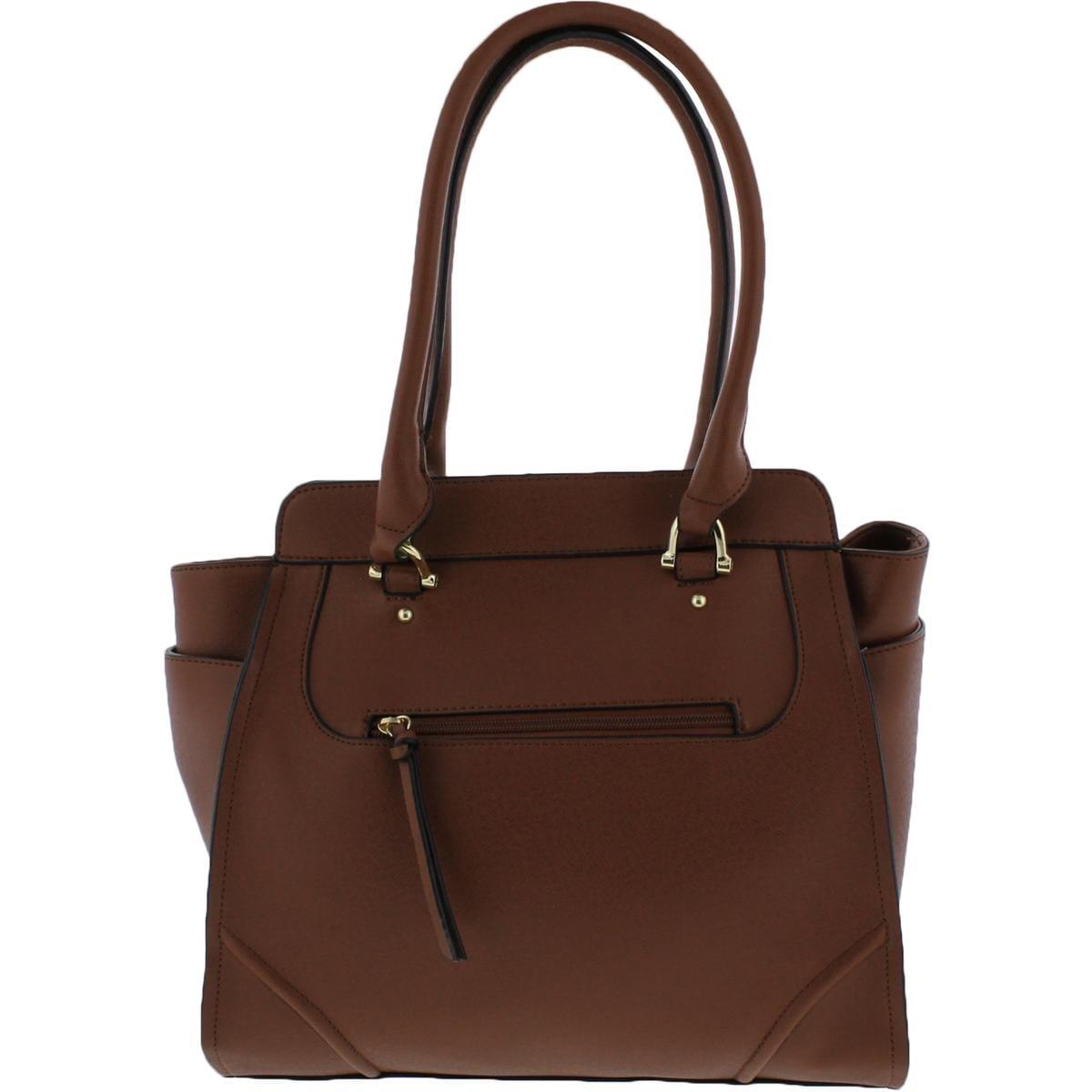 London Fog Womens Sophia Tote Handbag Signature Textured Large Free Shipping On Orders Over 45 20619848