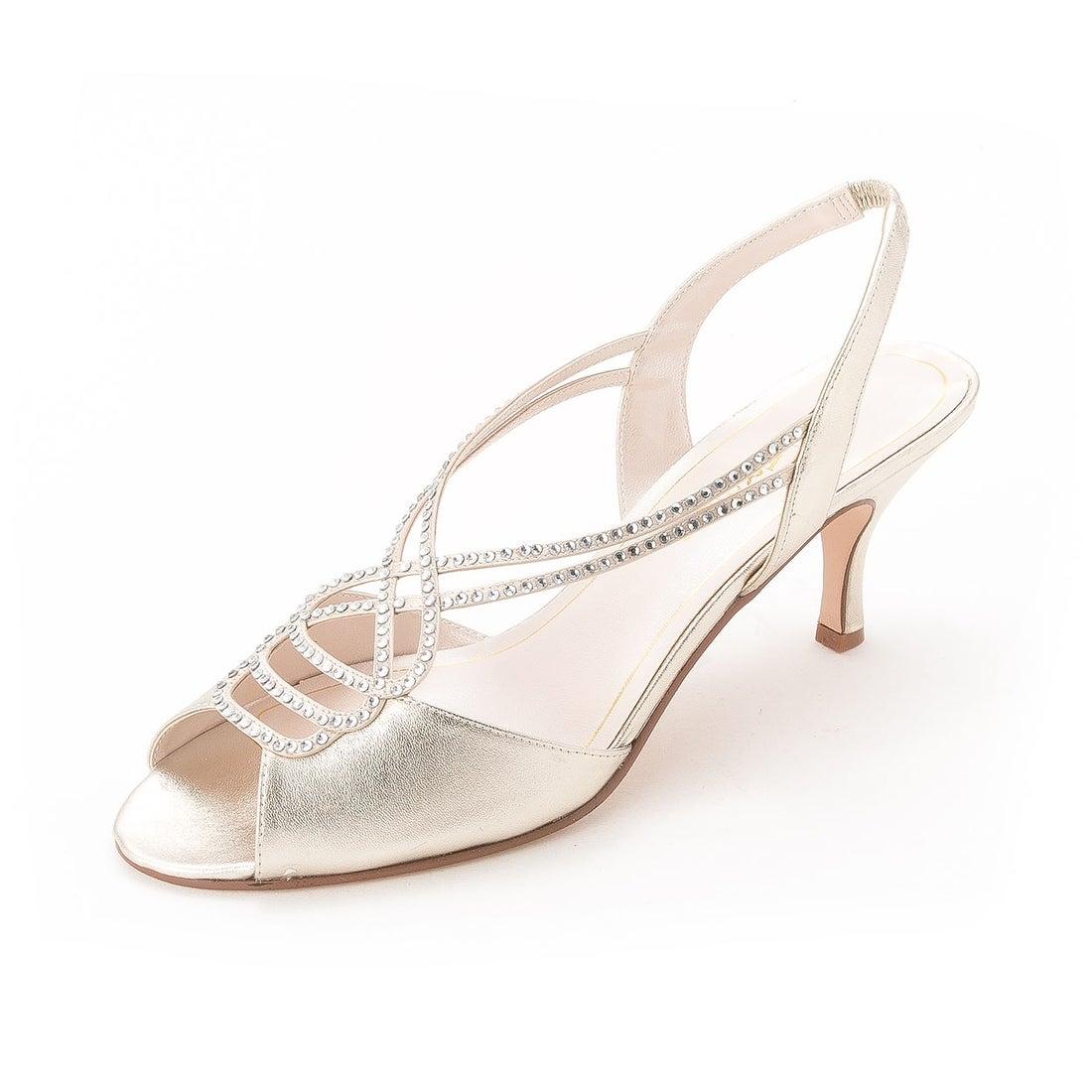 Caparros Womens MARISSA GLITTER Peep Toe Classic Pumps Nude Glitter Size 6.0