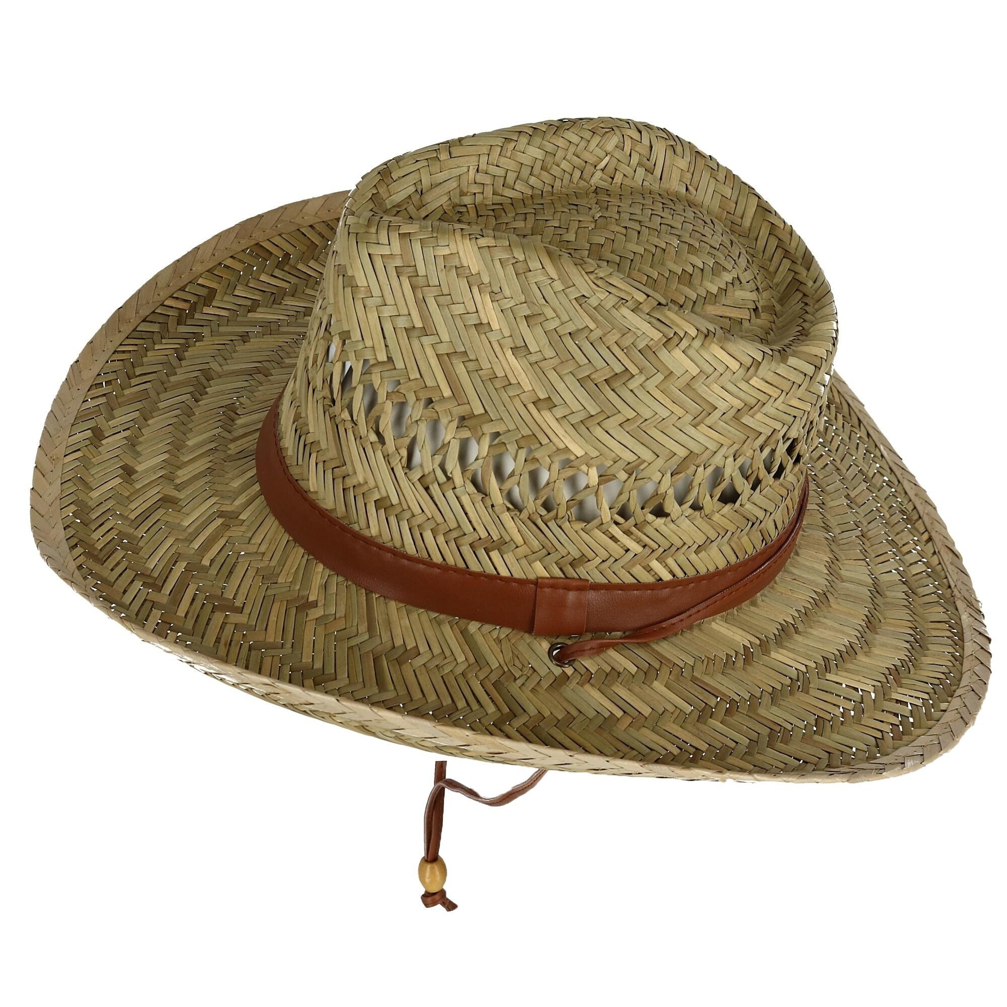 7c5c577187b0f9 Shop Kenny K Men's Rush Straw Lightweight Safari Hat with Chin Cord - Free  Shipping On Orders Over $45 - Overstock - 24259898