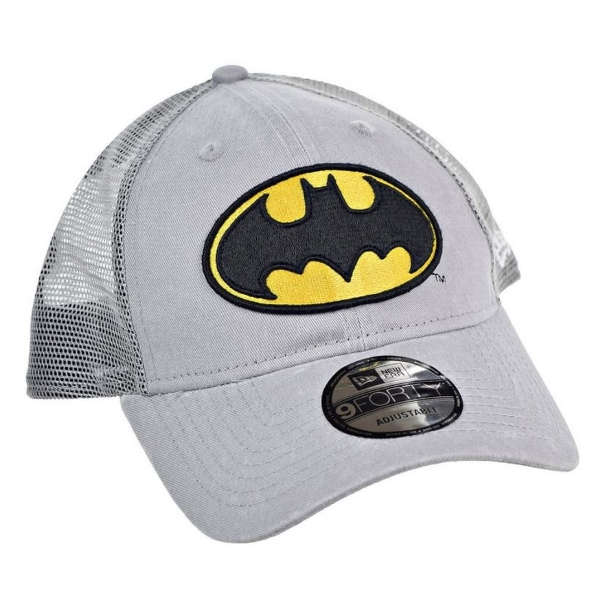 c2289582fd Shop New Era Batman Superhero Baseball Cap Hat Trucker Washed 9Forty 940  80470693 - Free Shipping On Orders Over  45 - Overstock - 17743850
