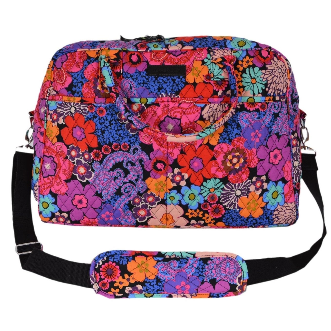 Shop Vera Bradley FLORAL FIESTA Cotton Weekender Duffle Travel Bag - Free  Shipping Today - Overstock - 21219278 bcc5244fc7271