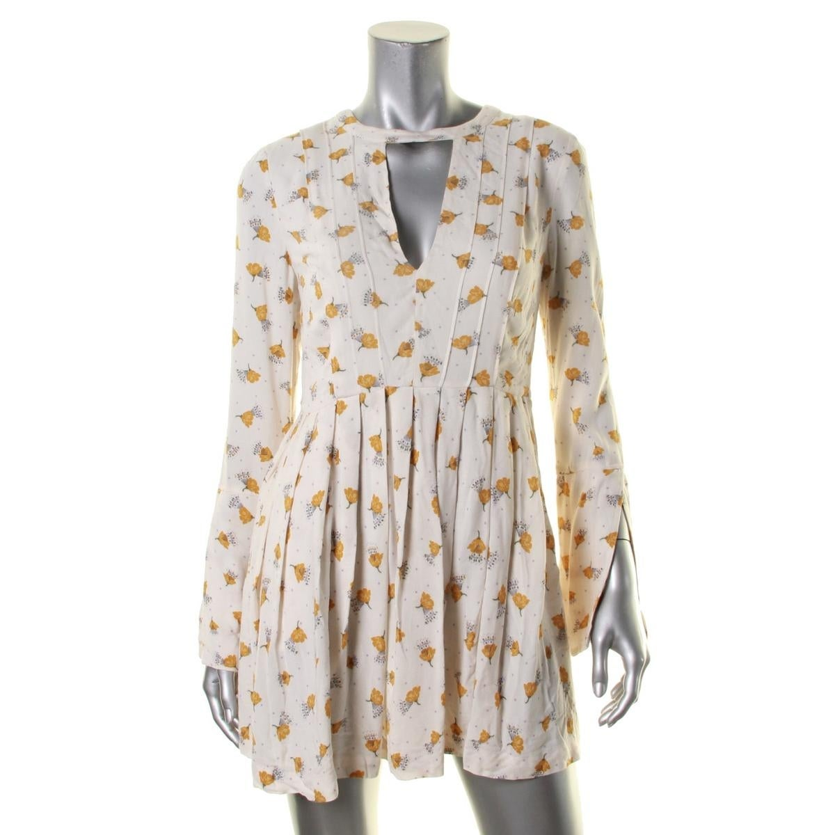 3c36fabb99679 Shop Free People Womens Tegan Casual Dress Printed Cutout - Free Shipping  On Orders Over $45 - Overstock - 18391290