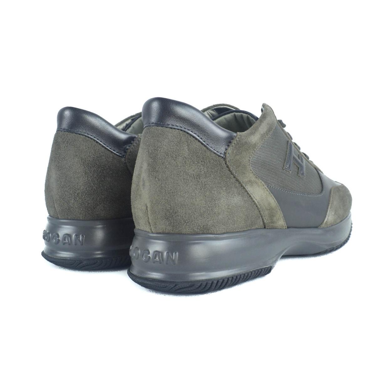 a88f7c144cc Shop Hogan Mens Brown Suede Mesh Interactive Mod H 3D Sneakers ...
