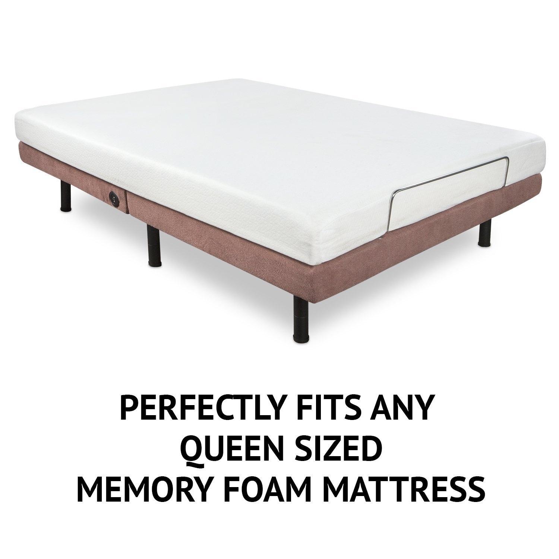 Shop LiveFine Queen Adjustable Bed Frame Base – Motorized, Backrest ...
