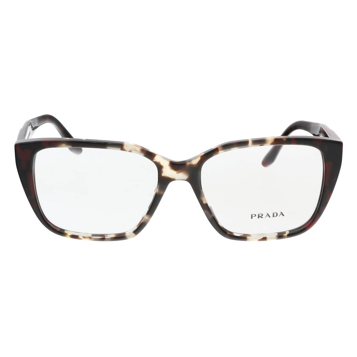 60d58d7ef78 Shop Prada PR 08TV U6K1O1 Spotted Brown Opal Square Optical Frames -  53-16-140 - Free Shipping Today - Overstock - 17768411
