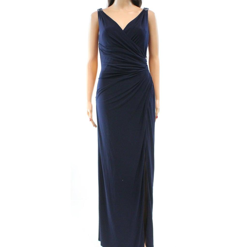 Shop Lauren Ralph Lauren NEW Blue Women\'s Size 18 Ruched Ball Gown ...