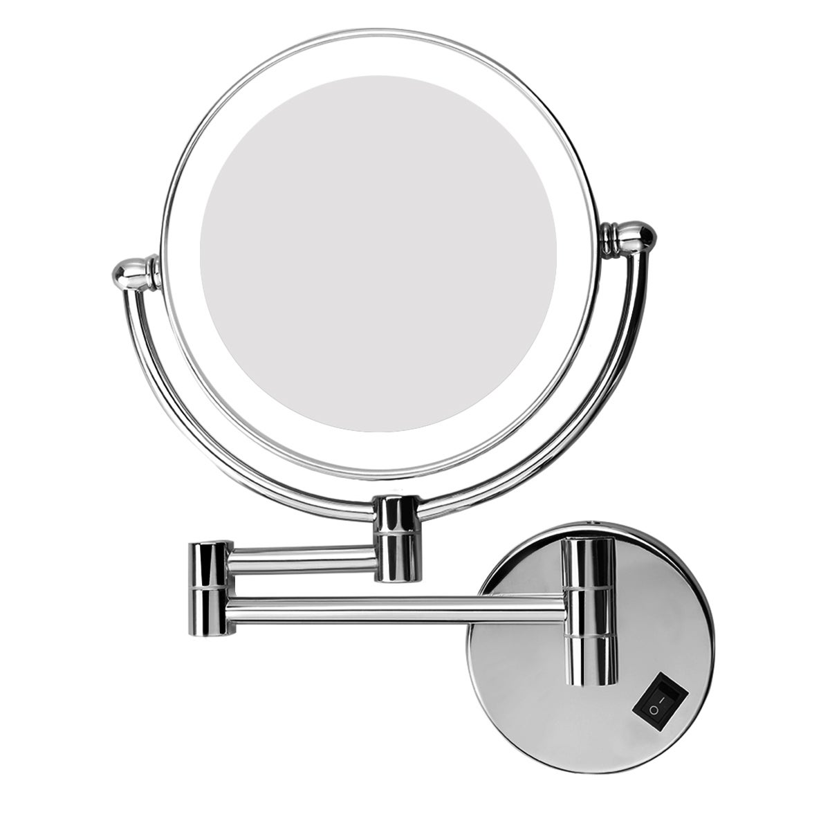 Shop Excelvan Led Lighted Wall Mount Makeup Mirror With 5x