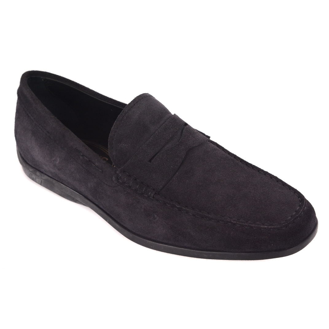 8966108073f Shop Tods Mens Navy Blue Suede Penny Bar Loafers - Free Shipping Today -  Overstock - 23624264