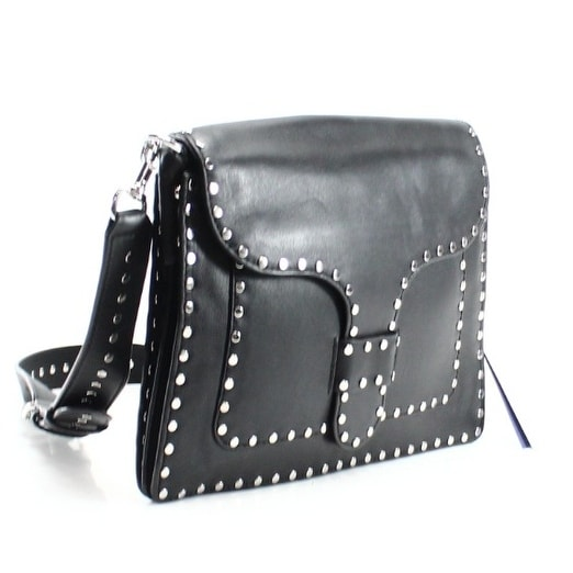 Rebecca Minkoff New Black Studded Leather Midnighter Slim Shoulder Bag Free Shipping Today 18840978