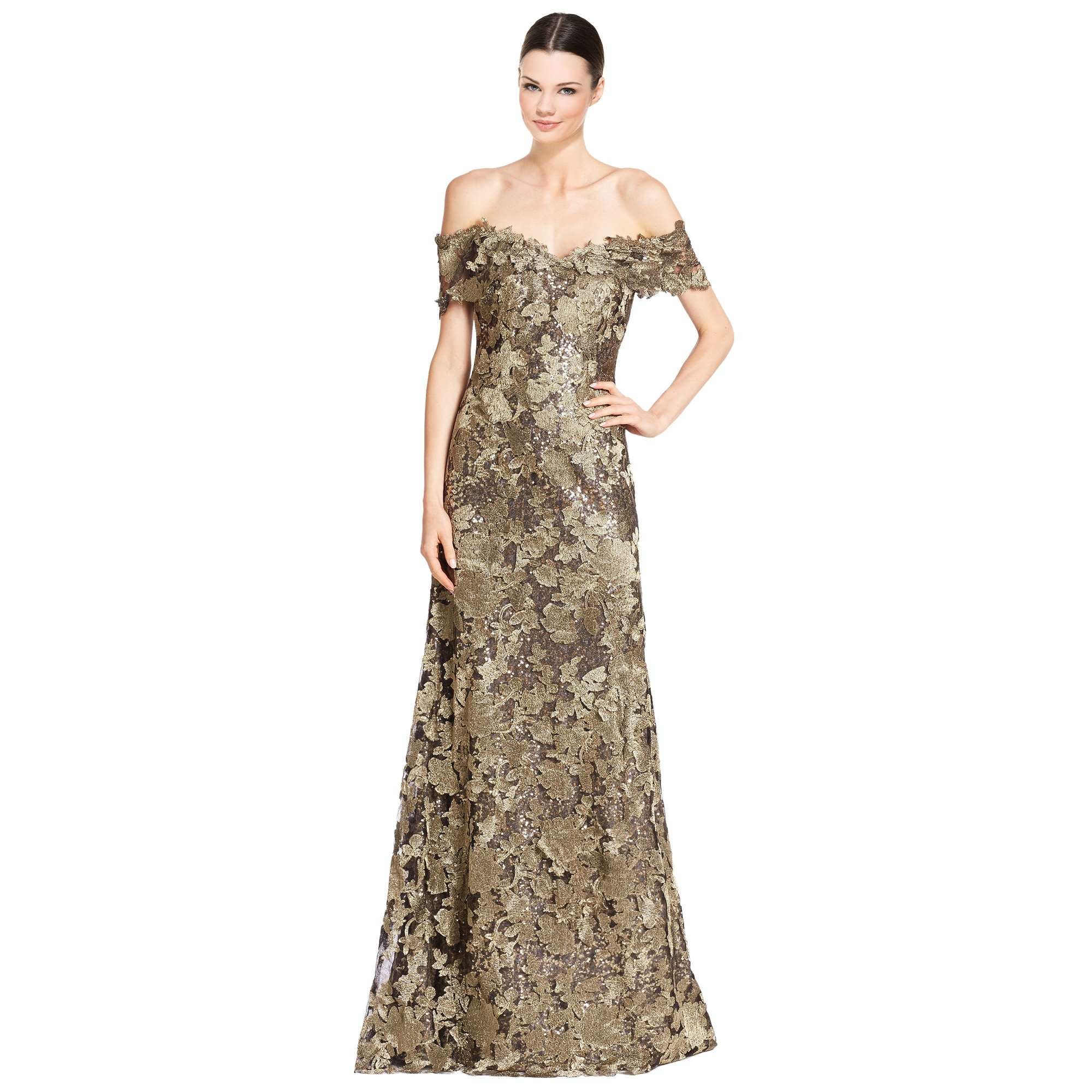 35cd2c4eb Black And Gold Sequin Evening Gown
