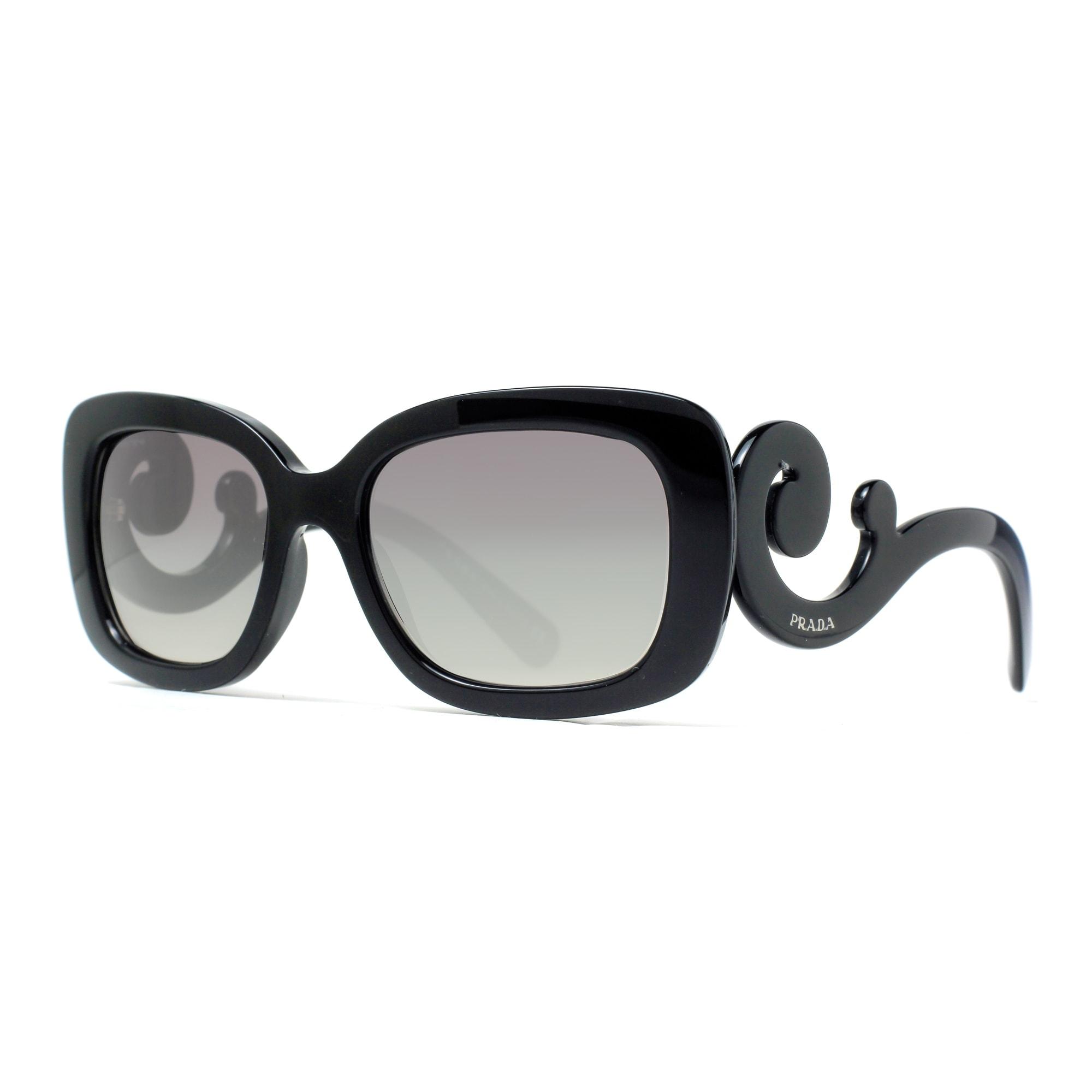 0bb918aa7a78a ... sweden shop prada spr 27o 1ab 3m1 black gray gradient womens baroque  square sunglasses black 54mm