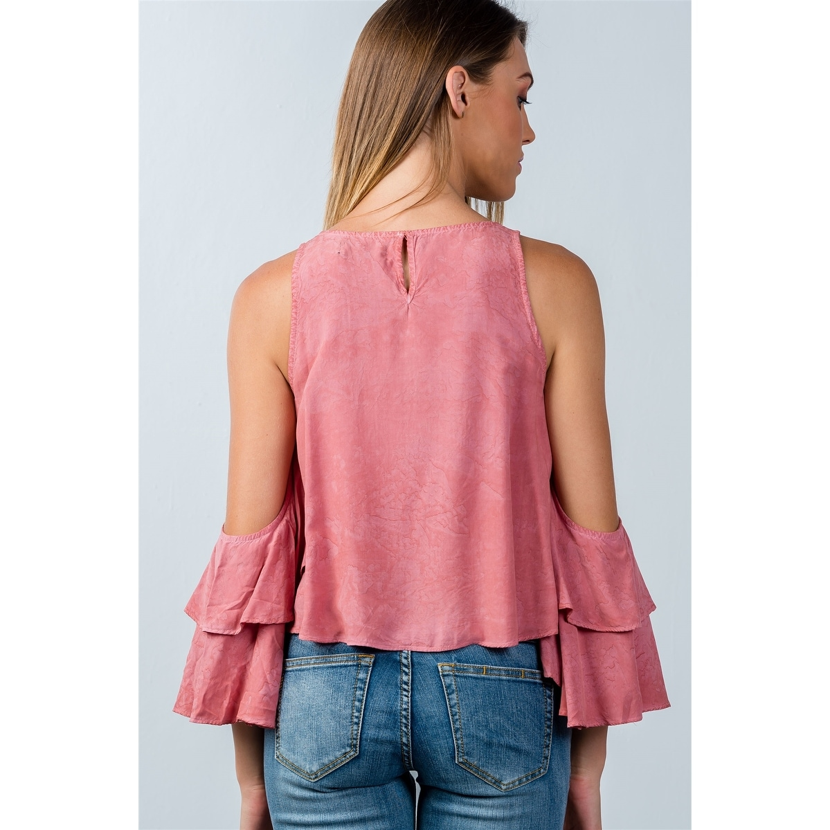 b6d1e8d7f995a5 Shop Ladies Fashion Back Keyhole Open-Shoulder Batwing Top - Size - L -  Free Shipping On Orders Over  45 - Overstock - 23163884