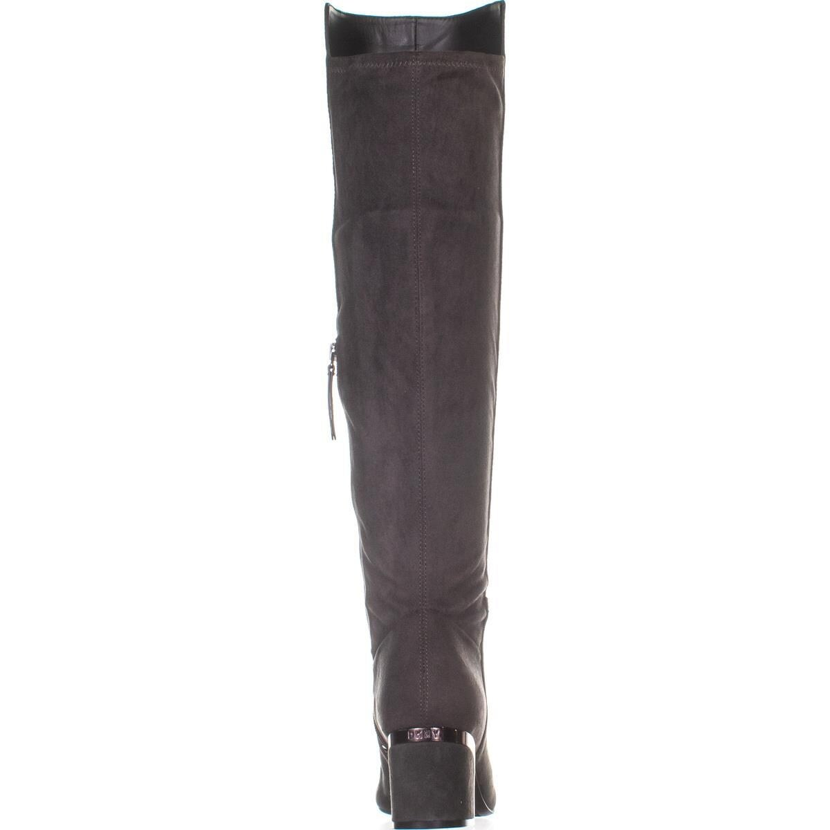 13930221e27 Shop DKNY Cora Low-Heel Knee High Boots