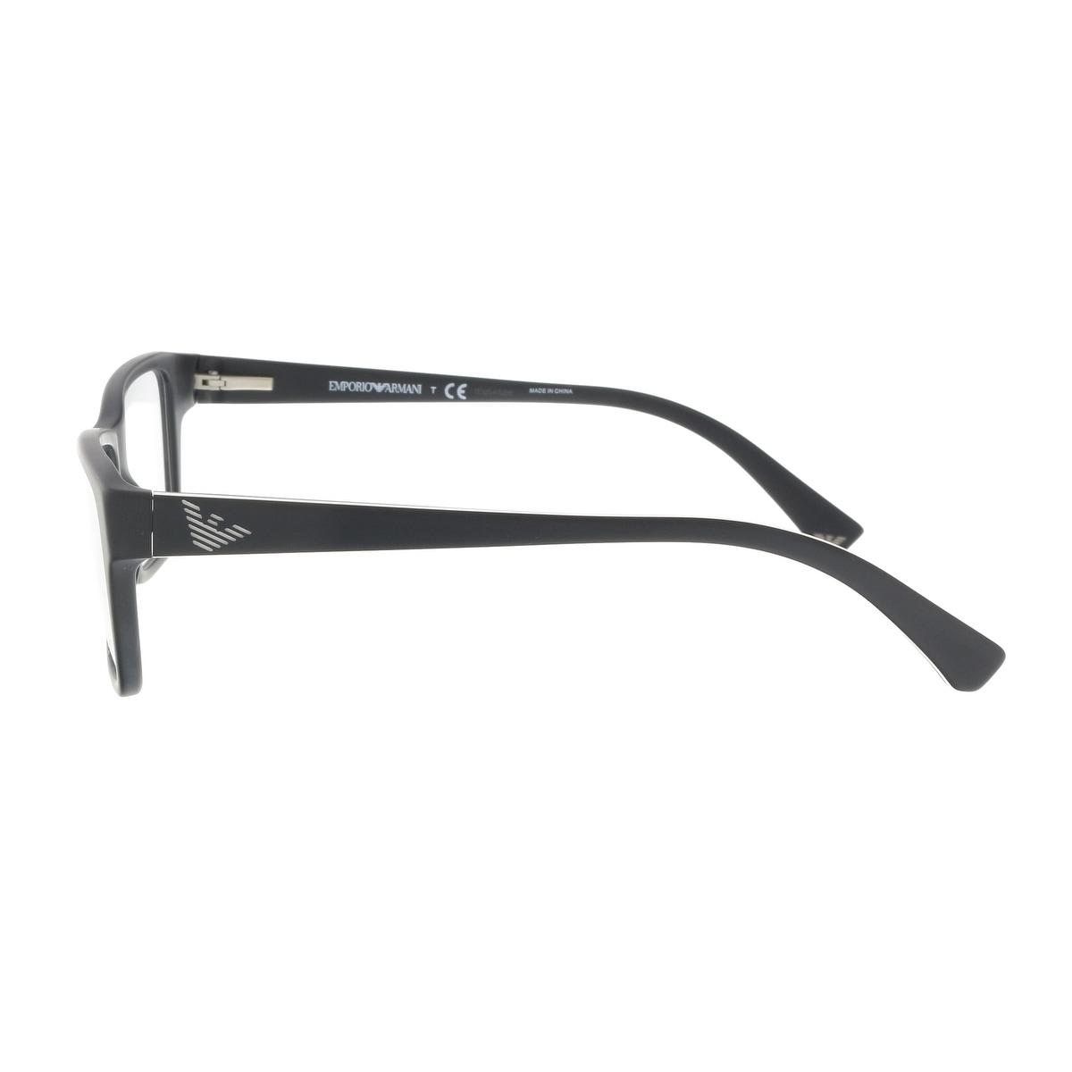 9bcaf99f9115 Shop Emporio Armani EA3057 5364 54 Matte Black Square Optical Frames - 54-17-140  - Free Shipping Today - Overstock - 19210662