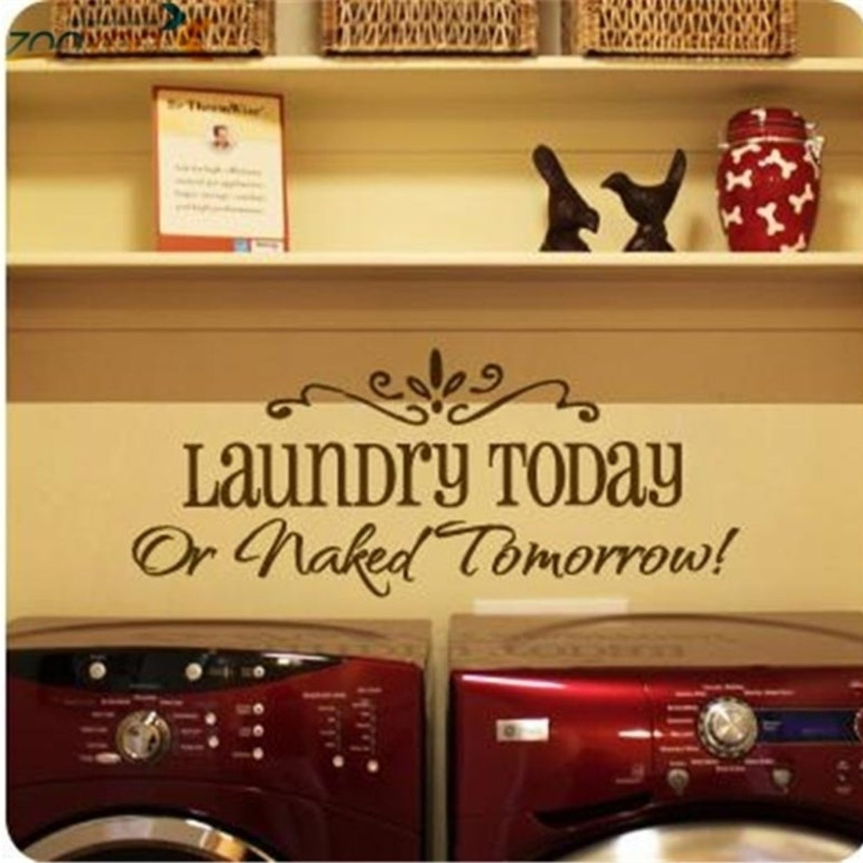 Shop Laundry Today Wall Art DIY Sticker Removable Vinyl Decal Mural ...