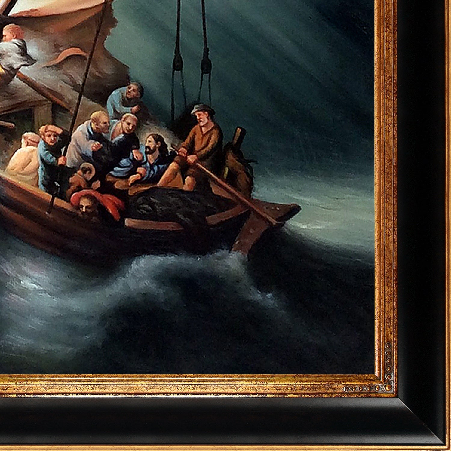Rembrandt the storm on the sea of galilee hand painted oil rembrandt the storm on the sea of galilee hand painted oil reproduction free shipping today overstock 24091100 publicscrutiny Images