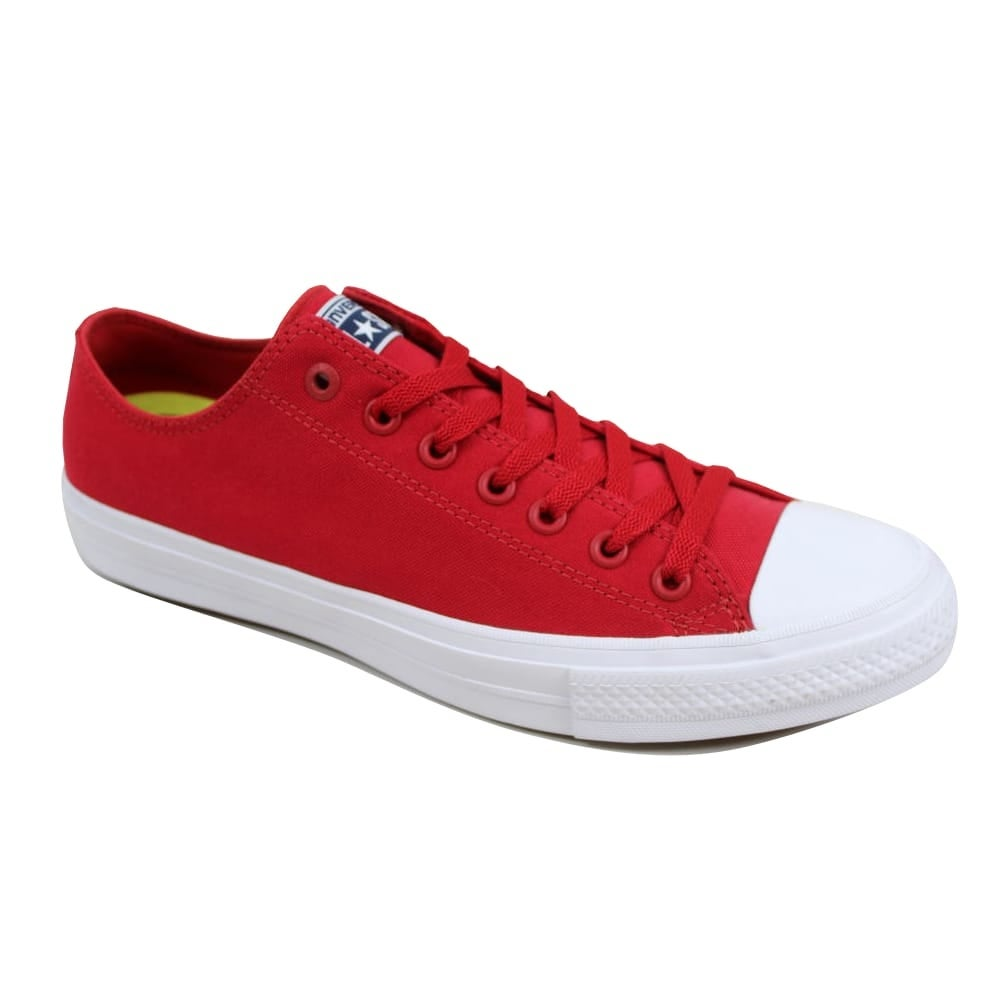 2e4fb72ef09e Shop Converse Men s Chuck Taylor II OX Salsa Red White 150151C - On Sale -  Free Shipping On Orders Over  45 - Overstock - 23436850