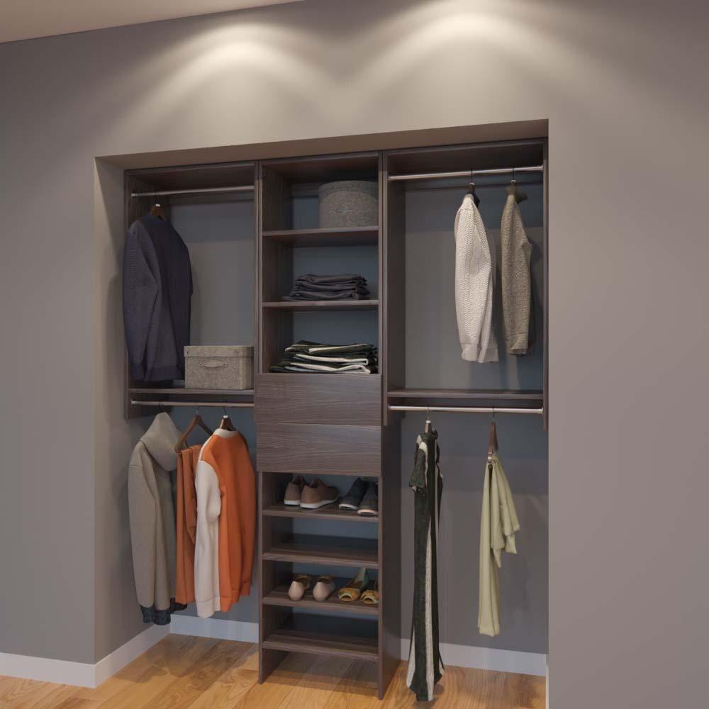 Modular Closets 6 Ft Closet Organizer System 72 Inch Style B
