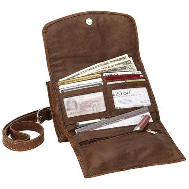 bb5800543c Shop American West Women s Desert Wildflower Small Crossbody Bag Wallet  Golden Tan Distressed Charcoal Cream - Free Shipping Today - Overstock -  25754986