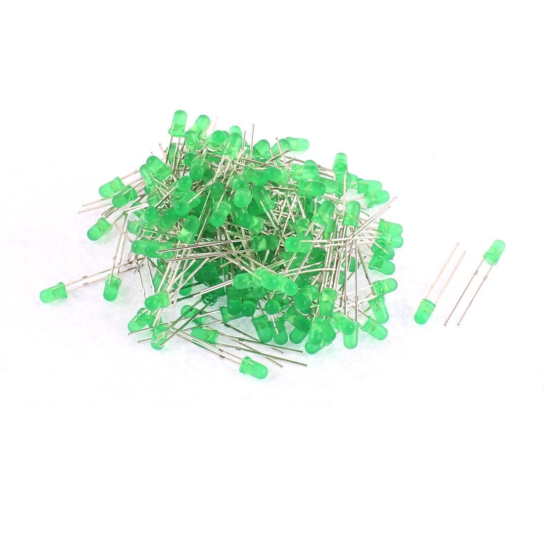 Shop 200pcs 25 X 4mm 2 Terminals Green Light Emitting Diode Leds Electrical Circuits Lamp Bulb On Sale Free Shipping Orders Over 45 18453480